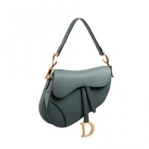 Dior Gray Saddle Bag