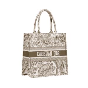 Dior Green Toile de Jouy Small Book Tote Bag