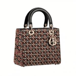 Dior Multicolor Embellished Lady Dior Bag