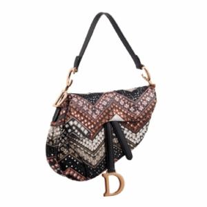 Dior Multicolor Embellished Saddle Bag