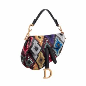 Dior Multicolor Saddle Bag