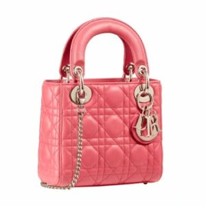 Dior Pink Mini Lady Dior Bag