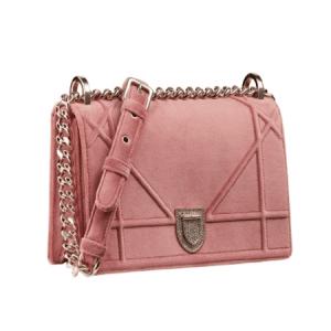 Dior Pink Suede Diorama Bag