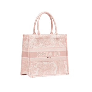 Dior Pink Toile de Jouy Small Book Tote Bag