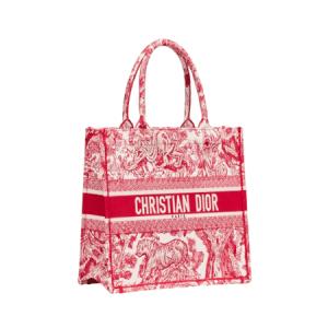 Dior Red Toile de Jouy Small Book Tote Bag
