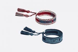 Dior Red and Blue J'adior Bracelets