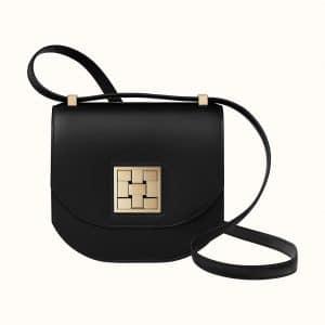 Hermes Noir Mosaique Au 24 - 17 Bag (GHW)