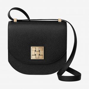Hermes Noir Mosaique Au 24 - 21 Bag (GHW)