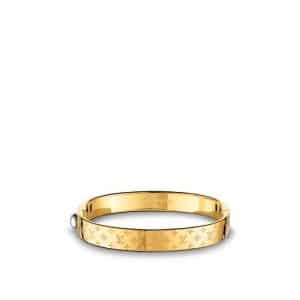 Louis Vuitton Brass/Gold Nanogram Cuff