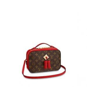 Louis Vuitton Coquelicot Monogram Canvas Saintonge Bag