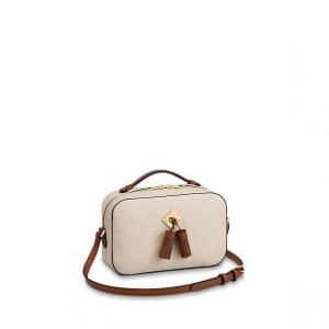 Louis Vuitton Creme Caramel Monogram Empreinte Saintonge Bag