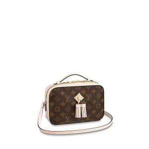 Louis Vuitton Creme Monogram Canvas Saintonge Bag