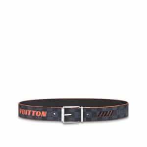 Louis Vuitton Damier Cobalt Race 40MM Reversible Belt