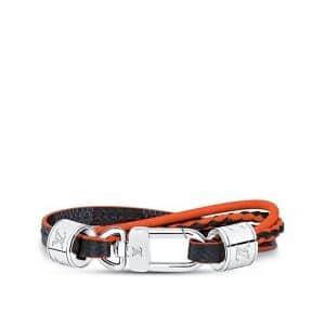 Louis Vuitton Damier Cobalt Race LV Treble Leather Bracelet