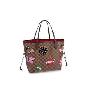 Louis Vuitton Damier Ebene Patches Neverfull MM Bag