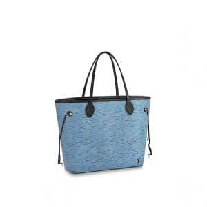 Louis Vuitton Denim Epi Neverfull MM Bag
