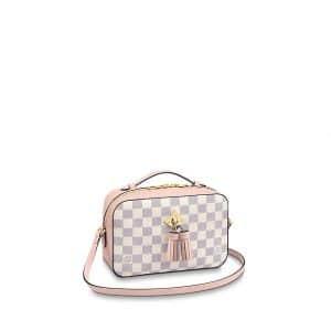 Louis Vuitton Eau de Rose Damier Azur Canvas Saintonge Bag