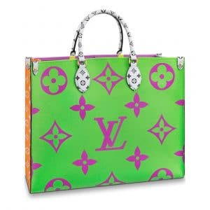 Louis Vuitton Green/Pink/Lilac/Orange Onthego Tote Bag 1