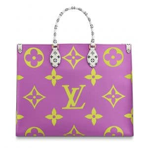 Louis Vuitton Green/Pink/Lilac/Orange Onthego Tote Bag 2