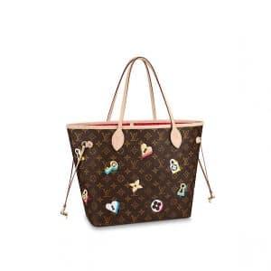 Louis Vuitton Love Lock Monogram Canvas Neverfull MM Bag
