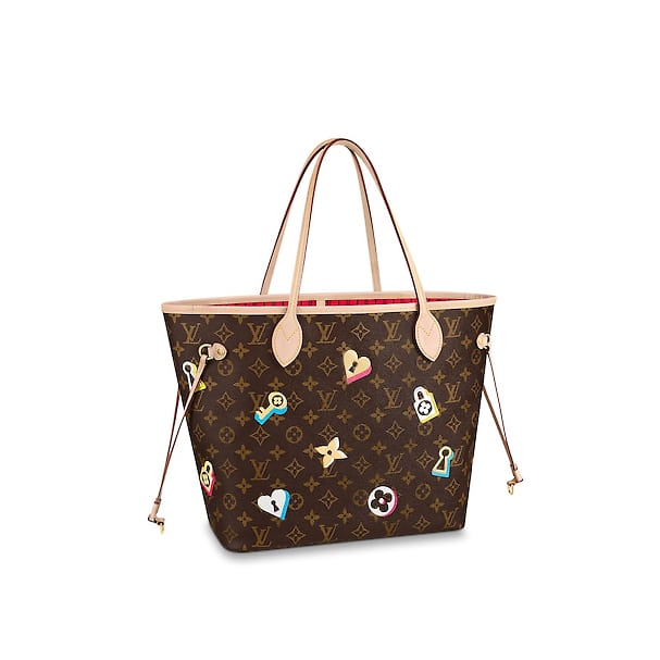 ac011f2f2d53c Louis Vuitton Love Lock Monogram Canvas Neverfull MM Bag