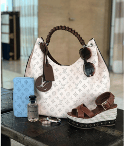 Louis Vuitton Mahina Carmel Hobo Bag 2