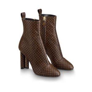 Louis Vuitton Monogram Canvas Silhouette Ankle Boot