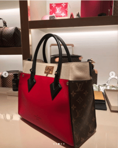 Tote Bag Louis Vuitton Monogram Canvas and Leather On My Side 2