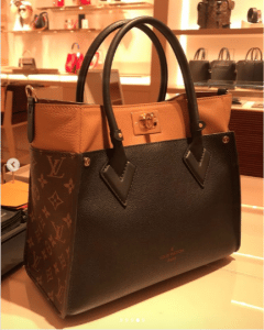 Louis Vuitton Monogram Canvas and Leather On My Side Tote Bag