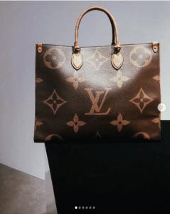 Borsa Louis Vuitton Monogram Geant On The Go