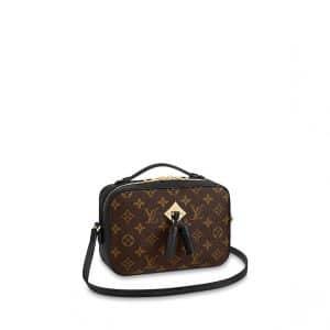 Louis Vuitton Noir Monogram Canvas Saintonge Bag