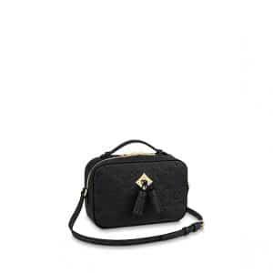 Louis Vuitton Noir Monogram Empreinte Saintonge Bag