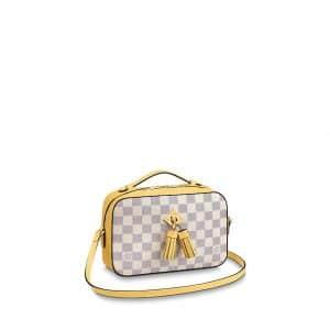 Louis Vuitton Pineapple Damier Azur Canvas Saintonge Bag