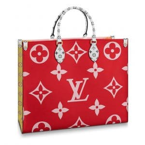 Louis Vuitton Red/Pink/Orange/Yellow Onthego Tote Bag 1