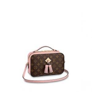 Louis Vuitton Rose Poudre Monogram Canvas Saintonge Bag