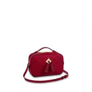 Louis Vuitton Scarlet Monogram Empreinte Saintonge Bag