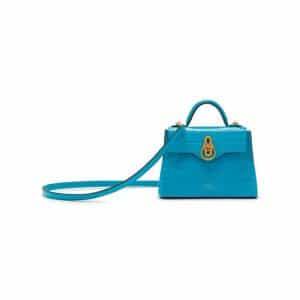 Mulberry Azure Croc Print Micro Seaton Bag