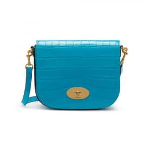 Mulberry Azure Croc Print Small Darley Satchel Bag