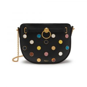 Mulberry Black Cabochon Embellished Brockwell Bag