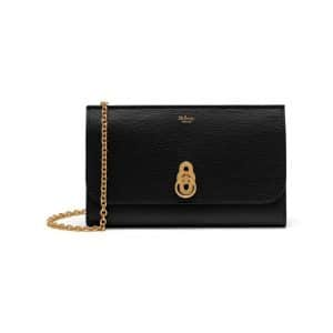 Mulberry Black Cross Grain Amberley Clutch Bag