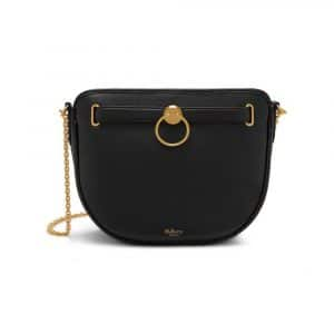 Mulberry Black Small Classic Grain Brockwell Bag