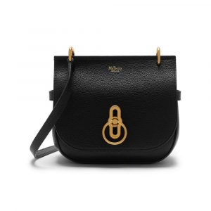 Mulberry Black Small Classic Grain Small Amberley Satchel Bag