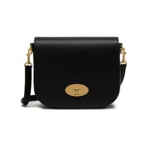 Mulberry Black Small Classic Grain Small Darley Satchel Bag