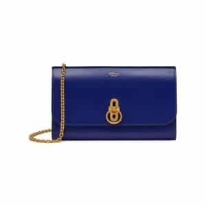 Mulberry Cobalt Blue Amberley Clutch Bag