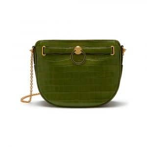 Mulberry Dark Olive Croc Print Brockwell Bag