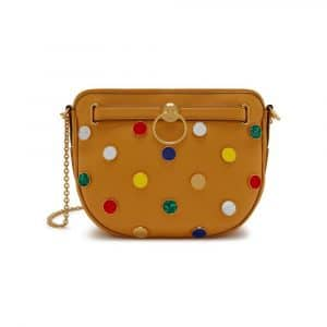 Mulberry Maize Yellow Cabochon Embellished Brockwell Bag