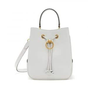 Mulberry White Small Classic Grain Hampstead Bag