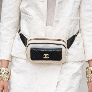 Chanel Beige/Black Belt Bag