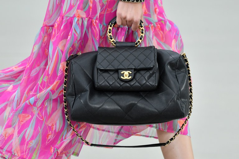 Chanel Black Double Bag