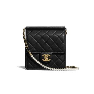 c4cd26369349 ... Chanel Black Mini Chic Pearls Flap Bag Chanel White Medium ...